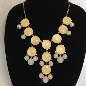 Large Gold Tone Chunky Statement Necklace